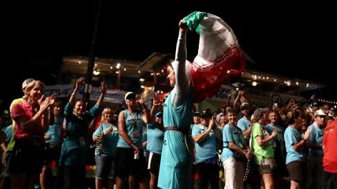 عکس شیرین گرامی در مسابقه مردان آهنین جزیره هاوایی