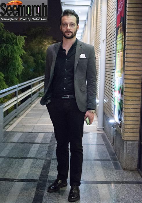 محمد سلوکی در اکران فیلم سیانور در تالار ایوان شمس