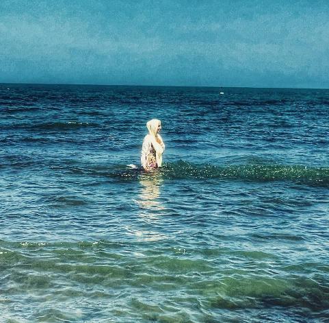 سوگول طهماسبی در دریا