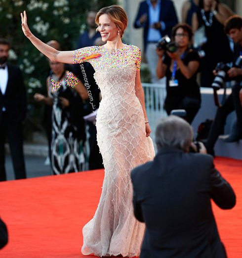 مدل لباس سونیا برگاماسکو Sonia Bergamasco در جشنواره فیلم ونیز 2016