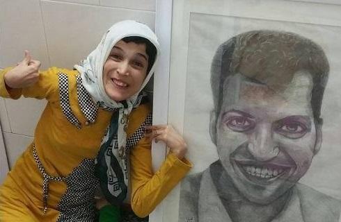 عکس سورپرایز دختر نقاش برای فردوسی پور