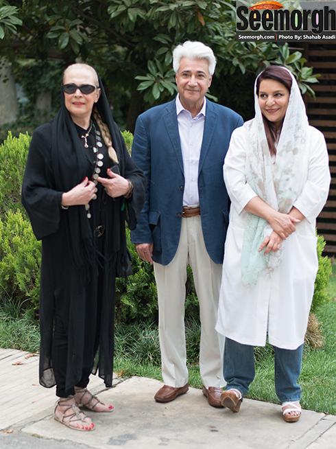 تهمینه میلانی در کنار همسرش و بیتا فرهنی
