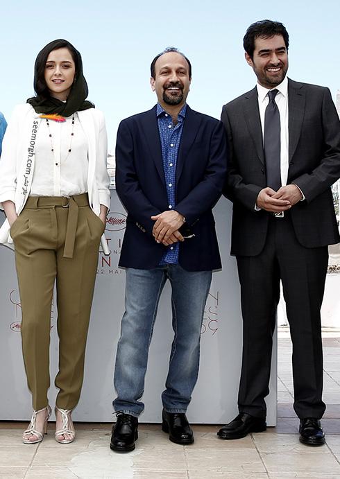 شهاب حسینی - اصغر فرهادی و ترانه علیدوستی در جشنواره کن 2016 Cannes