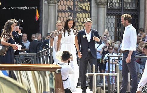 عکس ازدواج باستین شواین اشتایگر و آنا ایوانوویچ