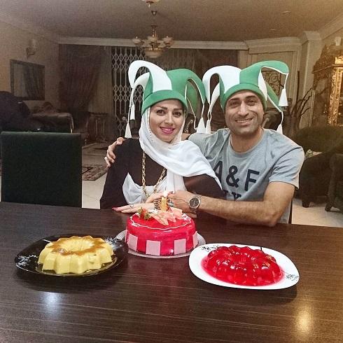 عکس مهدی رجب زاده و همسرش