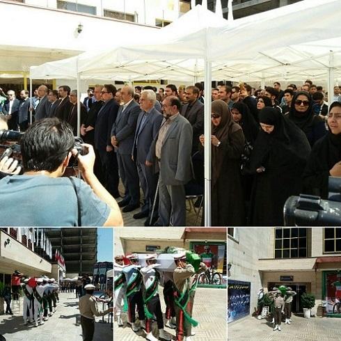 تشییع پیکر قهرمان ملی مرحوم گلبارنژاد