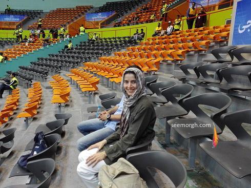 همسر ولاسکو در ورزشگاه آزادی