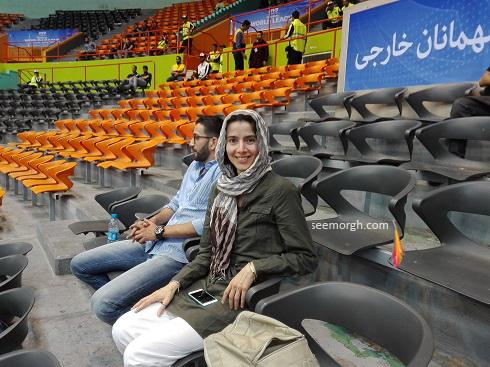 عکس همسر ولاسکو در ورزشگاه آزادی