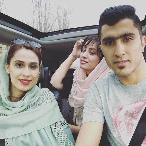 عکس مجتبی میرزاجانپور در کنار خواهر و همسرش