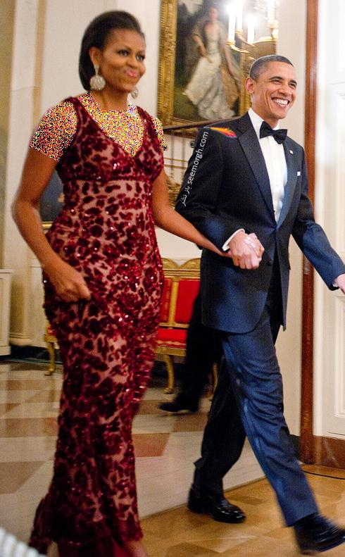 مدل لباس میشل اوباما Michelle Obama در سال 2009 - عکس شماره 1
