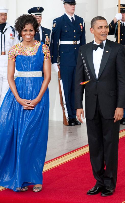 مدل لباس میشل اوباما Michelle Obama در سال 2010 - عکس شماره 3