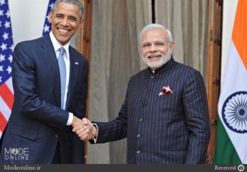 کت و شلوار نارندا مودی در دیدار با اوباما