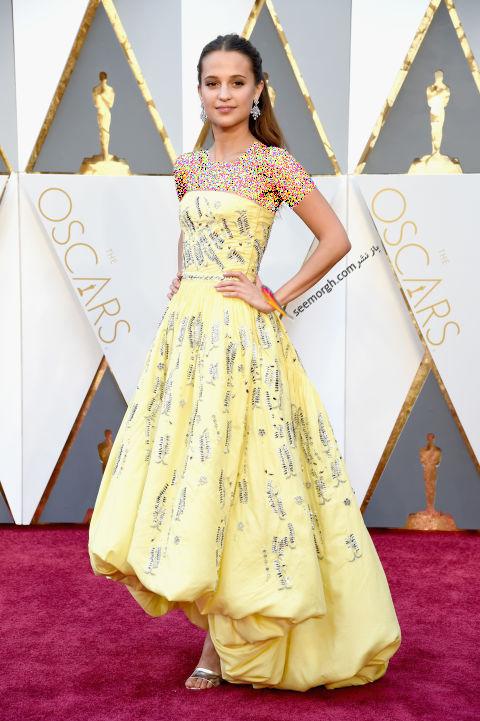 مدل لباس آلیسیا ویکاندر Alicia Vikander از برند لویی ویتون Louis Vuitton