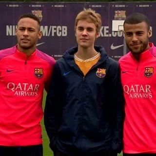 جاستین بیبر در تمرین تیم بارسلونا 1