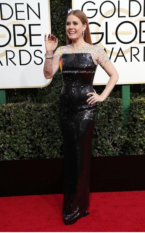 مدل لباس امی آدامز Amy Adams در مراسم گلدن گلوب 2017
