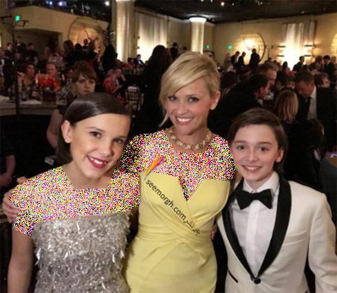 ریس ویترسپون Reese Witherspoon در مراسم گلدن گلوب 2017 Golden Globe