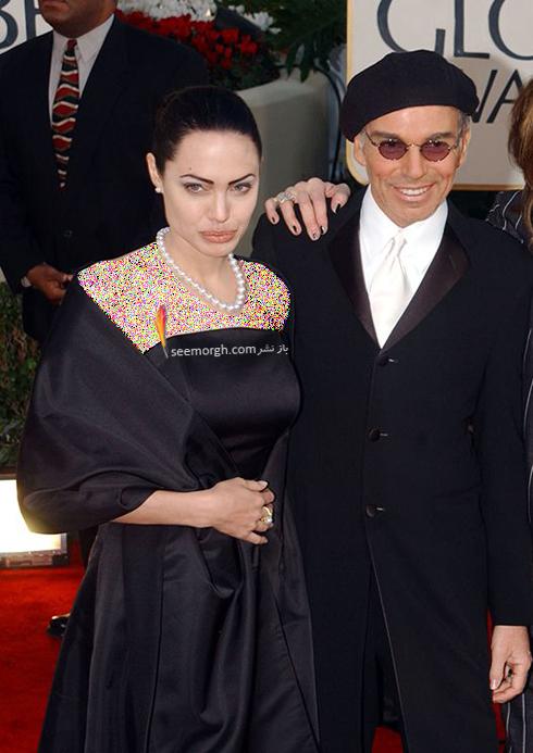 مدل لباس آنجلینا جولی Anjelina Jolie در گلدن گلوب 2002