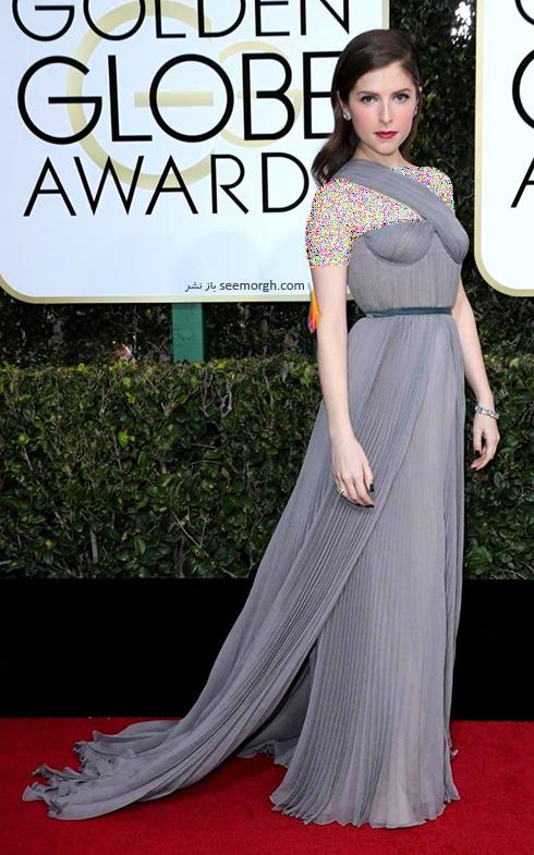 مدل لباس آنا کندریک Anna Kendrick در مراسم گلدن گلوب 2017