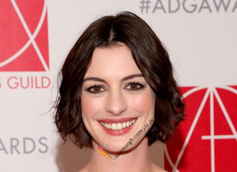مدل مو کوتاه Anne Hathaway آن هاتاوی