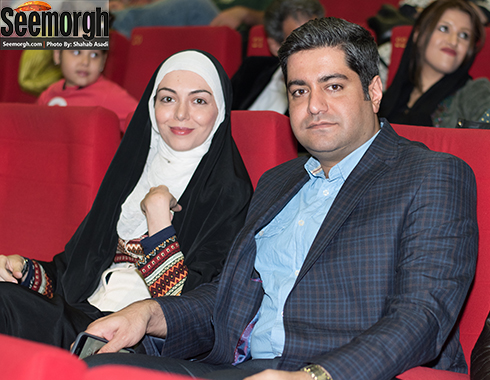 آزاده نامداری و همسرش در اکران فیلم نفس 2