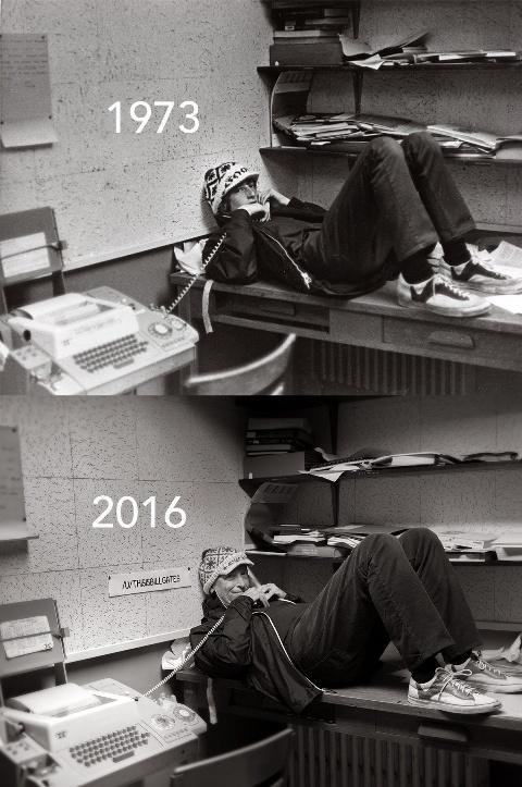 بیل گیتس در 18 سالگی و 61 سالگی اش