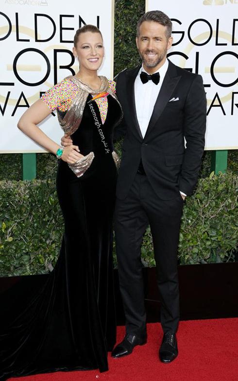 مدل لباس بلیک لایولی Blake Lively در مراسم گلدن گلوب 2017