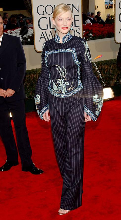 مدل لباس کیت بلانشت Cate Blanchett در گلدن گلوب 2002