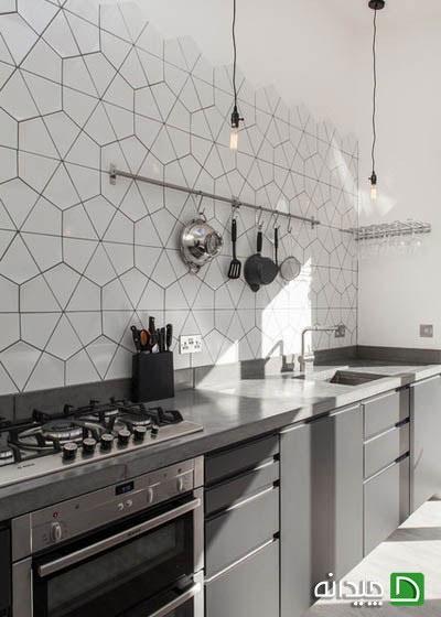 انتخاب کاشی های شش وجهی برای آشپزخانه