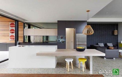 عدم تقارن در طراحی آشپزخانه