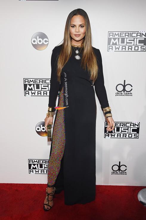 مدل لباس کریسی تیگن Chrissy Teigen در American Music Awards 2016