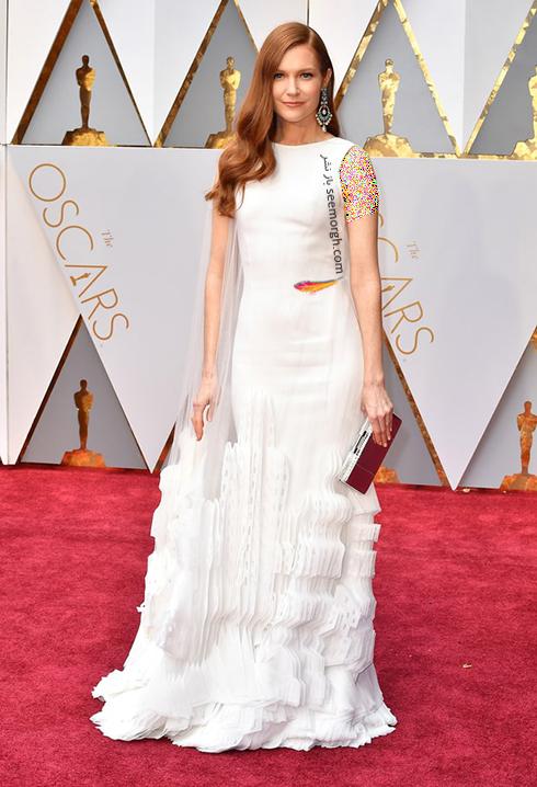 لباس داربی استنچفیلد Darby Stanchfield طراحی شده توسط ژرژ چاکرا Georges Chakra در اسکار Oscar 2017