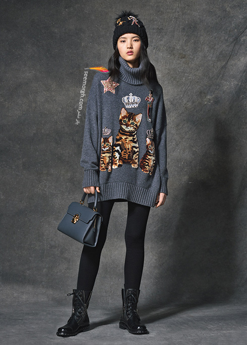 پلیور زنانه دولچه اند گابانا Dolce & Gabbana برای پاییز 2016 - عکس شماره  2