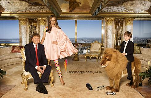 دکوراسیون داخلی پنت هاوس دونالد ترامپ Donald John Trump - عکس شماره 12