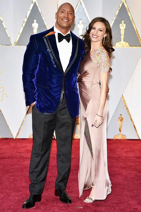 دواین جانسون Dwayne Johnson و لورن هاشین Lauren Hashian در مراسم اسکار 2017 Oscar