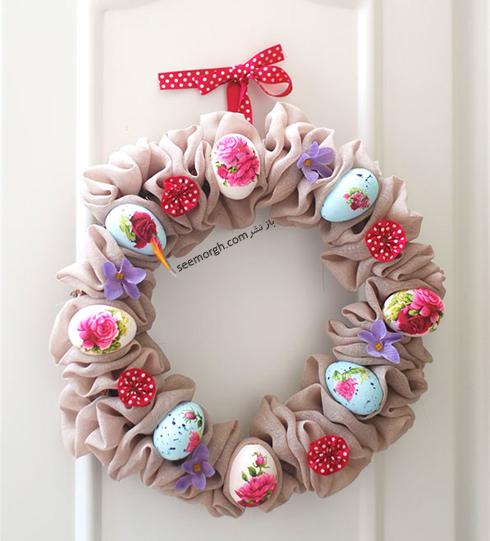 حلقه تخم مرغی به عنوان یک درکوب بهاری زیبا