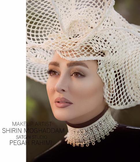 عکس جدید الهام حمیدی بعنوان مدل آرایشی