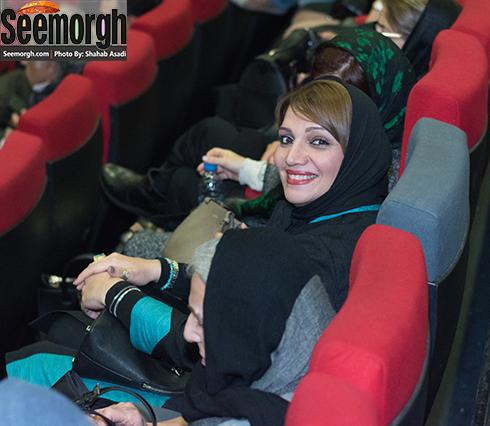 چهره خندان الهام پاوه نژاد در اکران فیلم نفس