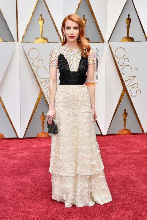 مدل لباس اما روبرتز Emma Roberts در مراسم اسکار 2017