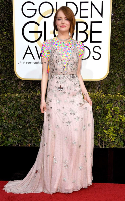 مدل لباس اما استون Emma Stone در مراسم گلدن گلوب 2017
