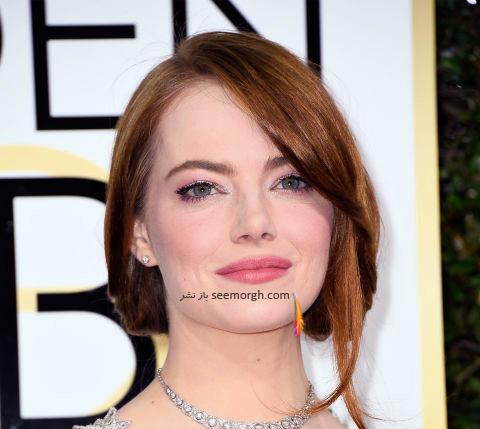 مدل مو اما استون Emma Stone در گلدن گلوب Golden Globe 2017