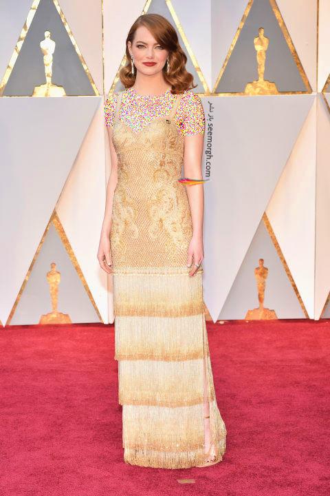 مدل لباس اما استون Emma Stone در مراسم اسکار 2017