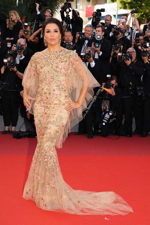 مدل لباس اوا لانگوریا Eva Longoria در ششمین روز جشنواره کن 2017 Cannes