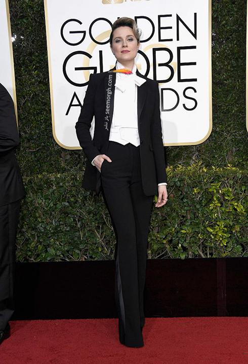مدل لباس ایوان راشل وود Evan Rachel Wood در مراسم گلدن گلوب 2017
