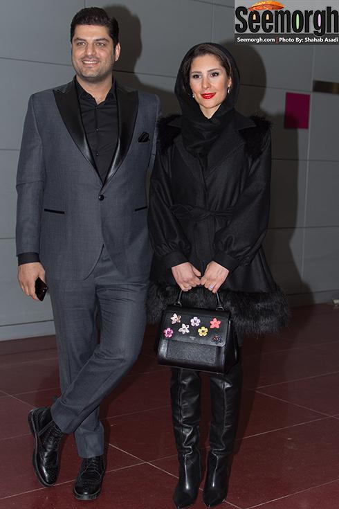 مدل مانتو همسر سام درخشانی در چهارمین روز جشنواره فجر 35