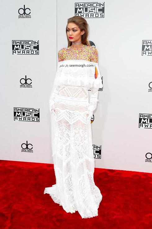 مدل لباس جی جی حدید Gigi hadid در American Music Awards 2016