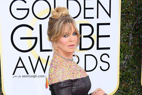 مدل مو گلدی هاون Goldie Hawn در گلدن گلوب Golden Globe 2017