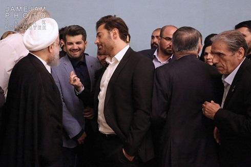 محمدرضا گلزار و دکتر حسن روحانی