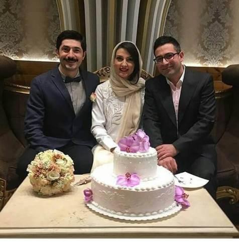 مراسم ازدواج حدیث میرامینی و همسرش مجتبی رجبی