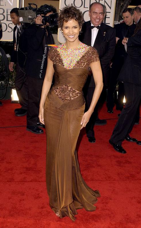 مدل لباس هلی بری Halle Berry در گلدن گلوب 2002