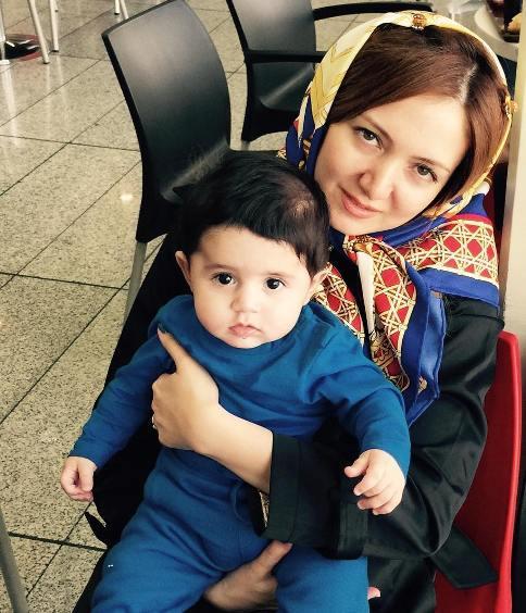 همسر حمید عسکری و پسرش